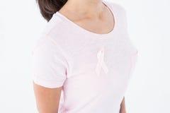桃红色的妇女乳腺癌了悟的 免版税库存照片