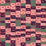 桃红色的60s的无缝的传染媒介样式蓝色,绿色和 库存照片