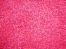 桃红色皮革背景或纹理 库存照片