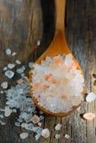 桃红色盐 免版税库存图片