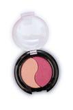 桃红色眼影膏为在黑匣子组成作为化妆产品样品  免版税库存图片