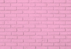 桃红色砖墙样式背景 免版税库存图片