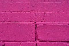 桃红色砖墙纹理 免版税库存照片