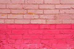 桃红色砖 库存图片