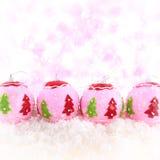 桃红色秀丽圣诞节背景 免版税库存图片