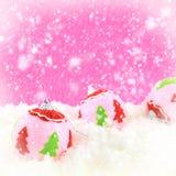 桃红色秀丽圣诞节 免版税图库摄影