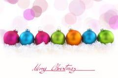 桃红色秀丽圣诞节 库存图片