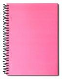 桃红色笔记本 免版税库存照片