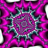 桃红色紫罗兰色分数维框架背景装饰品 库存照片