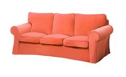 桃红色红色沙发家具。 长沙发 库存图片