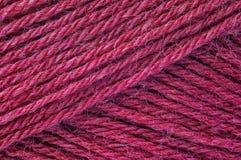 桃红色纱线 库存图片