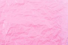 桃红色纸起皱纹的背景 向量例证
