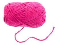 桃红色编织的纱线 图库摄影