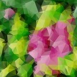 桃红色罗斯三角马赛克 库存照片
