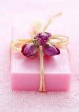 桃红色肥皂 库存图片