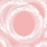 桃红色背景,白色圈子艺术在桃红色背景的 免版税库存照片