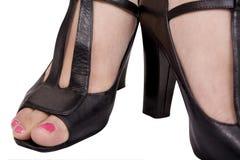 桃红色脚趾 库存图片