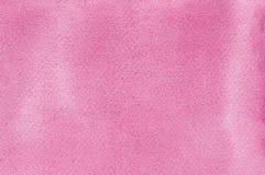 桃红色自然手工制造水彩画水彩绘纹理样式背景,水平的织地不很细水彩纸绘画宏指令 免版税库存照片