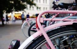 桃红色自行车 图库摄影