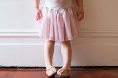 桃红色芭蕾舞短裙的小孩(播种) 免版税库存照片