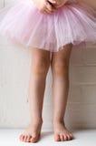 桃红色芭蕾舞短裙身分的小女孩 免版税库存照片