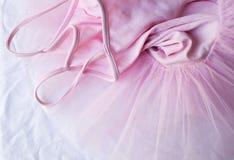 桃红色芭蕾舞短裙(下来上面) 库存图片