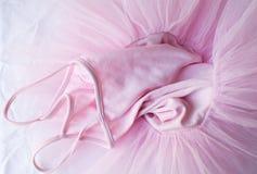 桃红色芭蕾舞短裙(充分的框架) 免版税库存图片