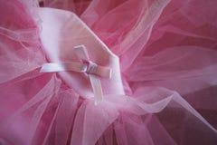 桃红色芭蕾舞短裙 免版税库存照片