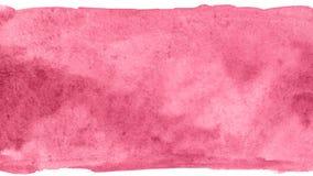 桃红色花创造性的水彩油漆背景,在剪贴薄剪影上写字 图库摄影