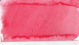 桃红色花创造性的水彩油漆背景,在剪贴薄剪影上写字 库存图片