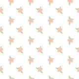 桃红色花卉无缝的样式 免版税库存图片