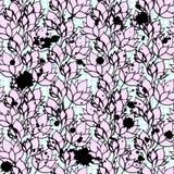 桃红色花卉莲花无缝的样式 免版税库存图片
