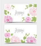桃红色花和叶子背景  图库摄影