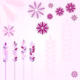 桃红色花和耳朵 库存图片