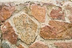 桃红色花岗岩,纹理背景石墙  图库摄影
