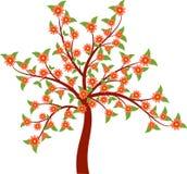 桃红色花树例证 免版税库存图片