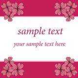 桃红色花看板卡模式设计 库存图片