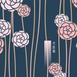 桃红色花纹花样 库存图片