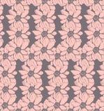 桃红色花,导航无缝的样式 库存图片