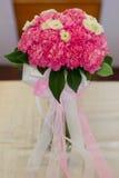 桃红色花,康乃馨 免版税库存照片
