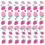桃红色草莓样式传染媒介背景 库存照片