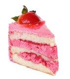 桃红色草莓蛋糕 库存图片