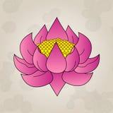 桃红色莲花,日本纹身花刺 免版税图库摄影