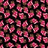 桃红色葡萄样式 向量例证