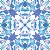 桃红色蓝色优美的金刚石摘要纹理 详细的发光的宝石背景例证 纺织品印刷品样式 方形的无缝的钛 皇族释放例证