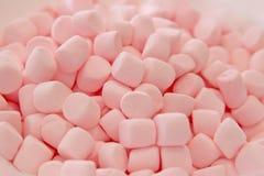 桃红色蛋白软糖纹理特写镜头 免版税图库摄影
