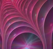 桃红色螺旋分数维图片 库存照片