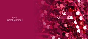 桃红色衣服饰物之小金属片塑造织品亮光样式 免版税库存照片