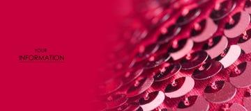 桃红色衣服饰物之小金属片塑造织品亮光样式 免版税库存图片
