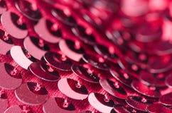 桃红色衣服饰物之小金属片塑造织品亮光 免版税库存照片